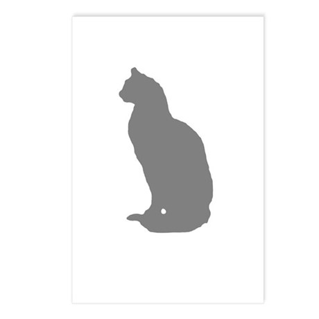 Grey Cat Postcards (Package of 8)
