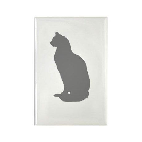 Grey Cat Rectangle Magnet