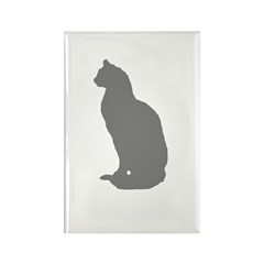 Grey Cat Rectangle Magnet (10 pack)
