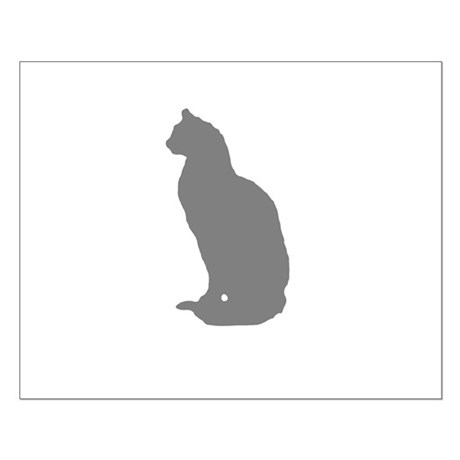 Grey Cat Small Poster