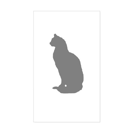 Grey Cat Rectangle Sticker