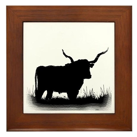Longhorn Framed Tile