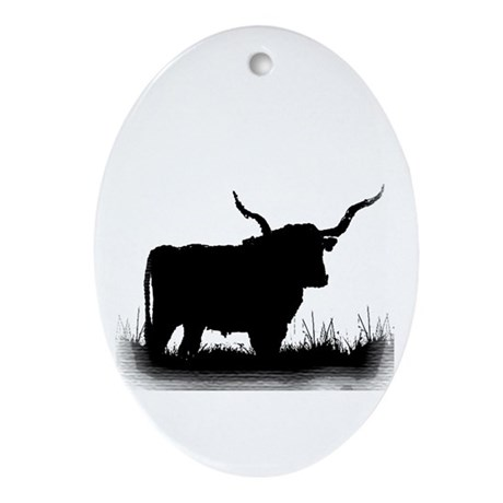 Longhorn Oval Ornament