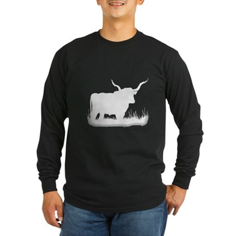 Longhorn Long Sleeve Dark T-Shirt
