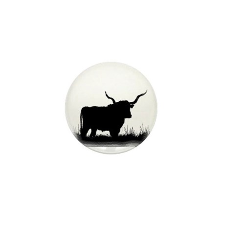 Longhorn Mini Button