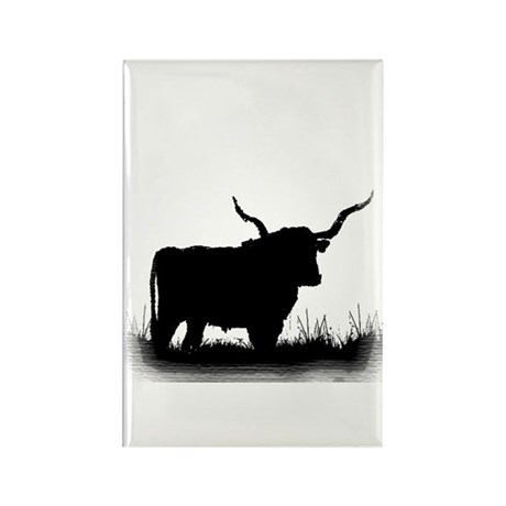 Longhorn Rectangle Magnet