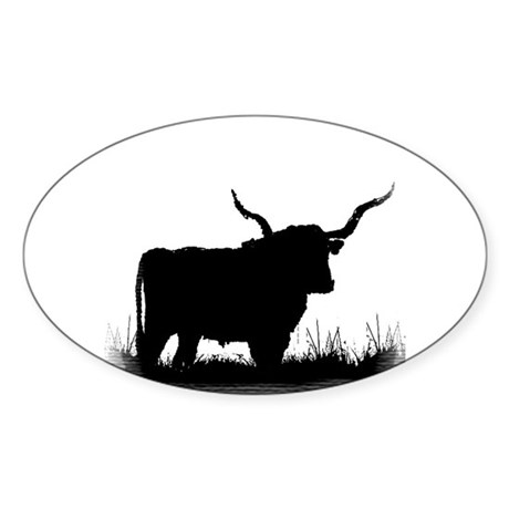 Longhorn Oval Sticker