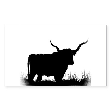 Longhorn Rectangle Sticker