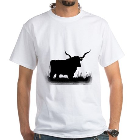 Longhorn White T-Shirt