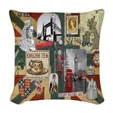 Anglophile's Woven Throw Pillow