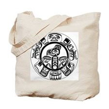 Northwest Indian Folk Art Tote Bag