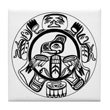 Northwest Indian Folk Art Tile Coaster