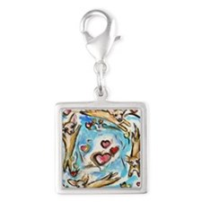 Chihuahuas dance love hearts Charms