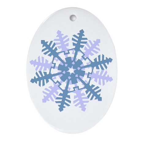 Snowflake Oval Ornament