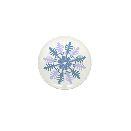 Snowflake Mini Button