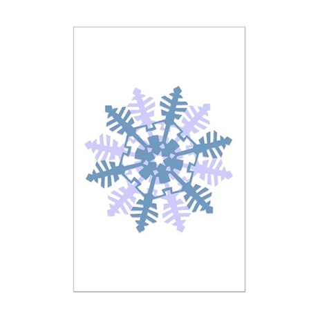 Snowflake Mini Poster Print