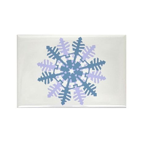 Snowflake Rectangle Magnet