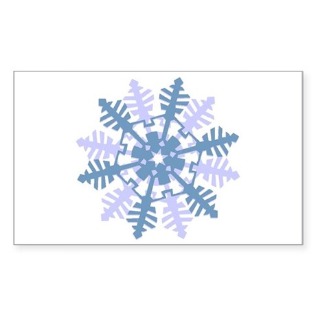 Snowflake Rectangle Sticker