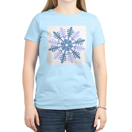 Snowflake Women's Pink T-Shirt