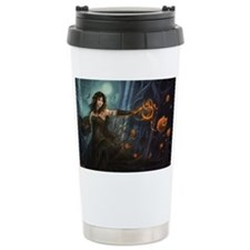 Haunting Halloween Beauty Ceramic Travel Mug