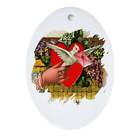 Valentine Oval Ornament