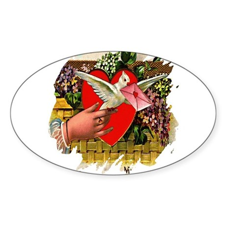 Valentine Oval Sticker