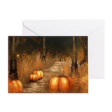 Take a walk in Autumns bounty Greeting Card