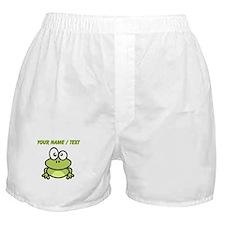 Custom Funny Cartoon Frog Boxer Shorts