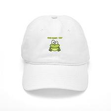Custom Funny Cartoon Frog Baseball Cap