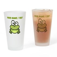 Custom Funny Cartoon Frog Drinking Glass