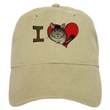 I heart chinchillas Baseball Cap