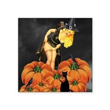 "Halloween Pin up Square Sticker 3"" x 3"""