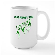 Custom Green Howling Coyote Mugs