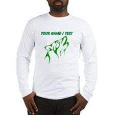 Custom Green Howling Coyote Long Sleeve T-Shirt