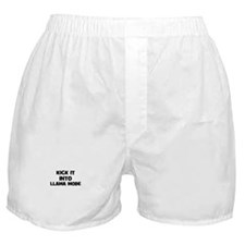 kick it into llama mode Boxer Shorts