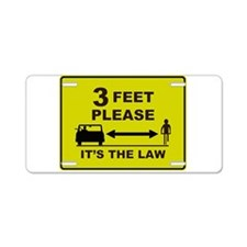 3 Feet Please Aluminum License Plate