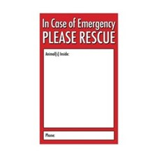 Emergency Animal Rescue Decal