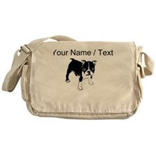 Custom Boxer Puppy Messenger Bag