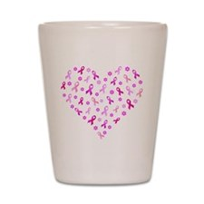 Breast Cancer Pink Ribbon Shot Glass