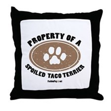 Taco Terrier dog Throw Pillow
