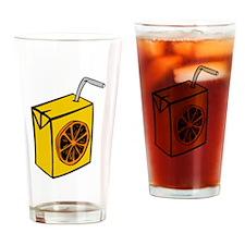 Orange Juice Box Drinking Glass