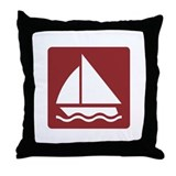 Water Sports Activities, UK Throw Pillow