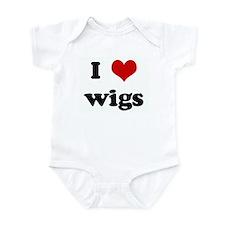 I Love wigs Infant Bodysuit