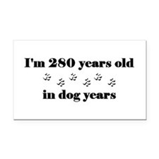 40 dog years 3-2 Rectangle Car Magnet