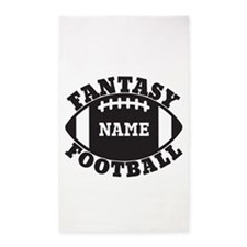Personalized Fantasy Football 3'x5' Area Rug