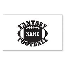 Personalized Fantasy Football Decal