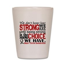 How Strong We Are Brain Tumor Shot Glass