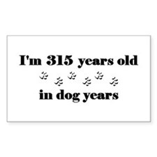 45 dog years 3-2 Decal