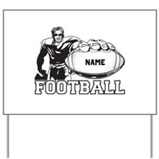 Personalized Football Player Yard Sign