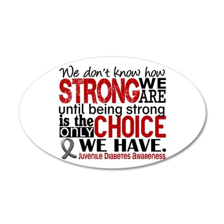 How Strong We Are Juv Diabetes 20x12 Oval Wall Dec